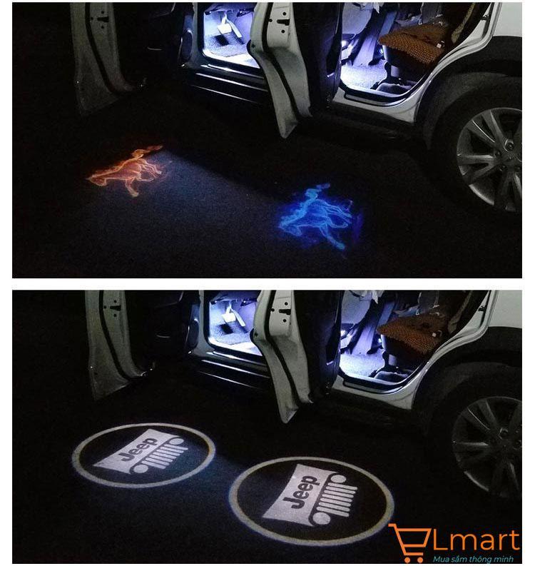 Bộ 2 đèn logo trang trí ô tô xe hơi cực đẹp (Toyota-White) Myauto