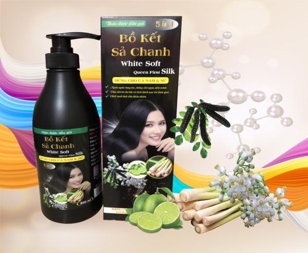 [K] DẦU GỘI BỒ KẾT SẢ CHANH WHITE SOFT 850ML 5IN1 - dầu gội thảo mộc - chăm sóc tóc - dầu gội cao cấp - đồ dùng phòng tắm giá rẻ