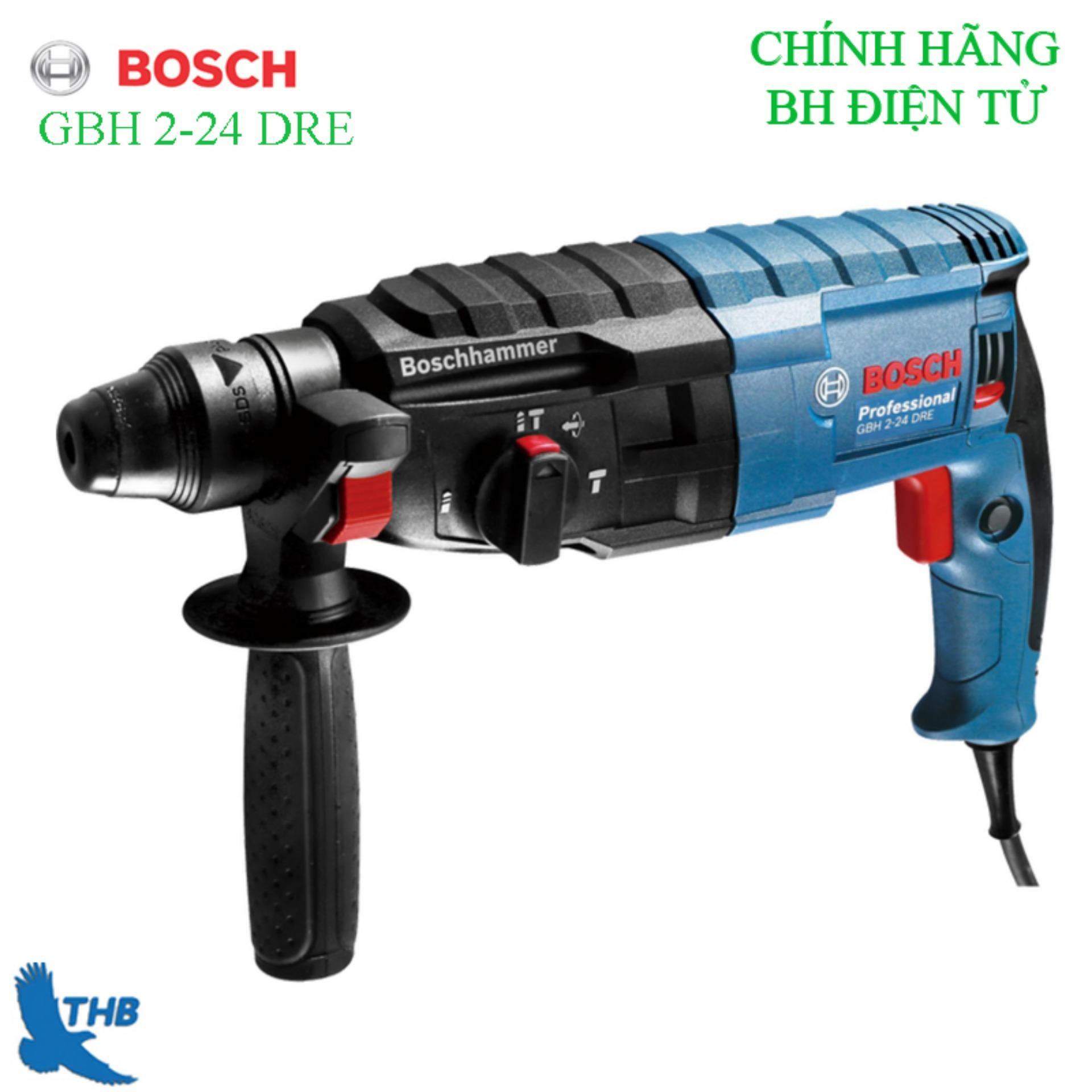Máy khoan bê tông, máy khoan Búa, Máy khoan tường, Máy khoan đa năng, Máy khoan đa năng Máy khoan Bosch chính hãng GBH 2-24 DRE ( Công suất 790W khoan xoay, khoan búa, đảo chiều và đục )