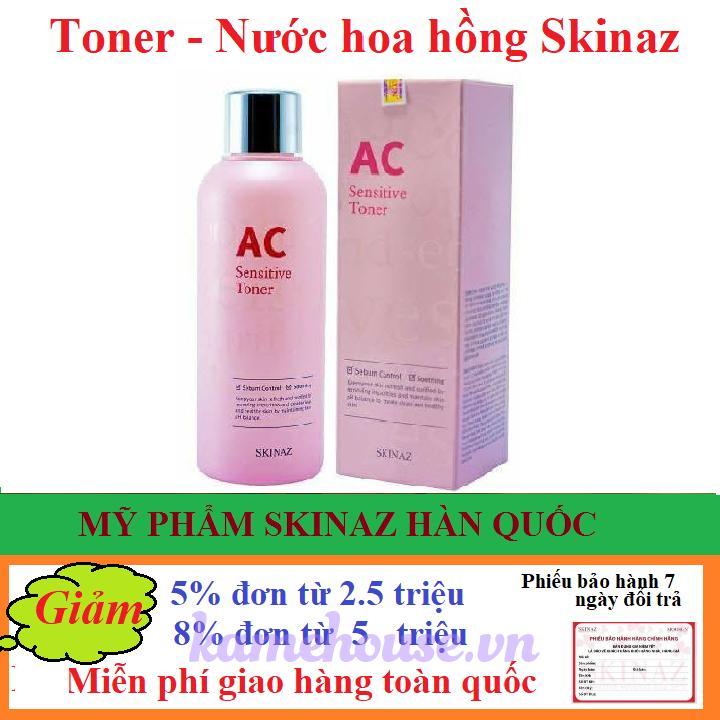 Toner AC Sensitive Toner Skinaz Hàn Quốc- 180ml