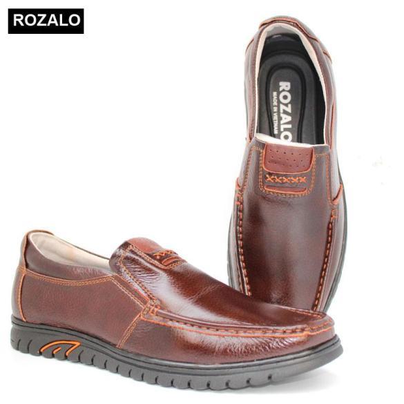 Giày lười nam da bò đế cao su siêu bền Rozalo R6792 giá rẻ