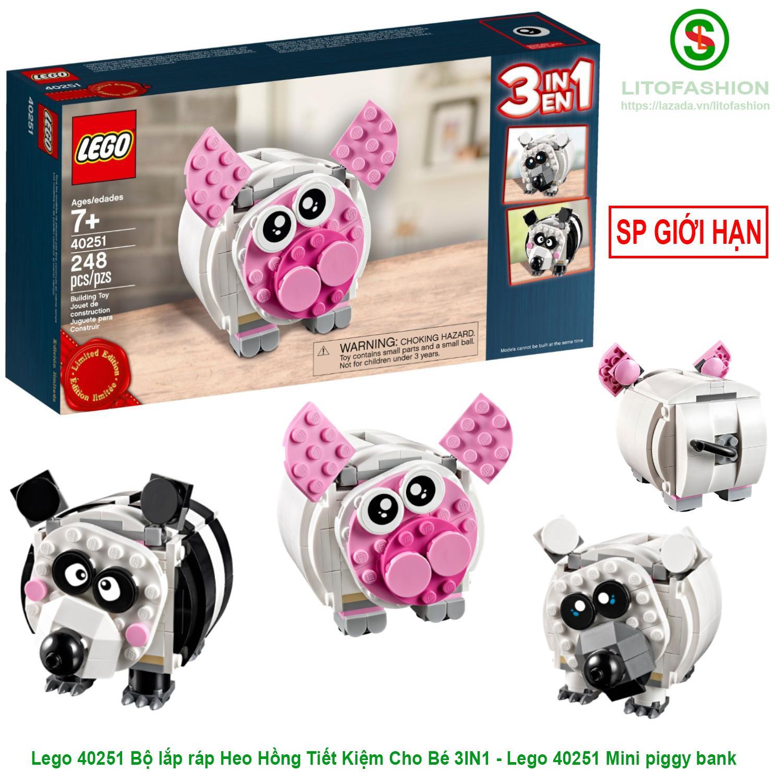 Coupon Khuyến Mãi Lego 40251 Bộ Lắp Ráp Heo Hồng Tiết Kiệm Cho Bé 3IN1 (SP LEGO GIỚI HẠN) - Lego 40251 Mini Piggy Bank