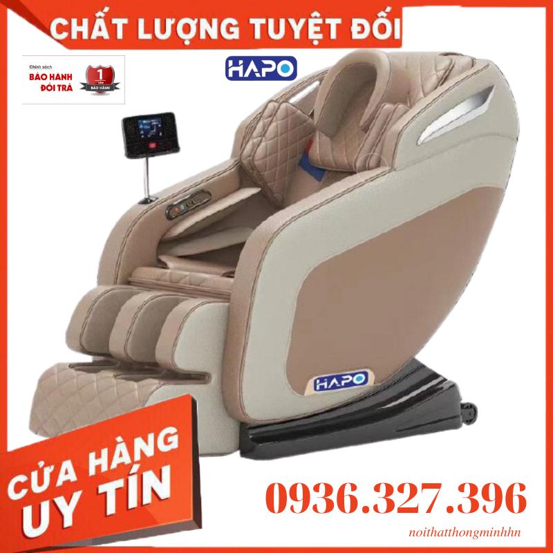 Ghế massage đa năng toàn thân HAPO , ghế massage không trọng lực ( zero garavity ), kết nối bluetooth