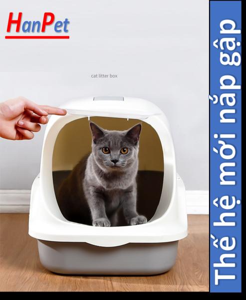 HCM - Nhà vệ sinh cho mèo Size lớn (có 5 loại ) tặng kèm xẻng (màu ngẫu nhiên) / nha ve sinh meo / khay đựng cát mèo / cat ve sinh meo / hop dung cat meo / nha meo / long meo /
