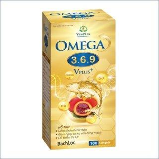 Viên dầu cá Omega 3 6 9 Vplus Bổ não, sáng mắt, khỏe mạnh tim mạch - Hộp 100 viên thumbnail