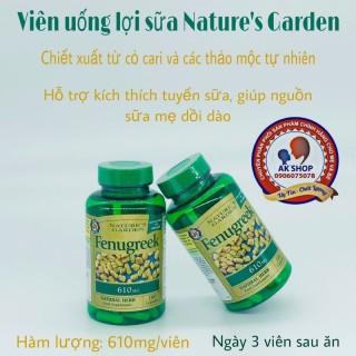 Viên Uống Lợi Sữa Fenugreek Nature S Garden Hàng thumbnail