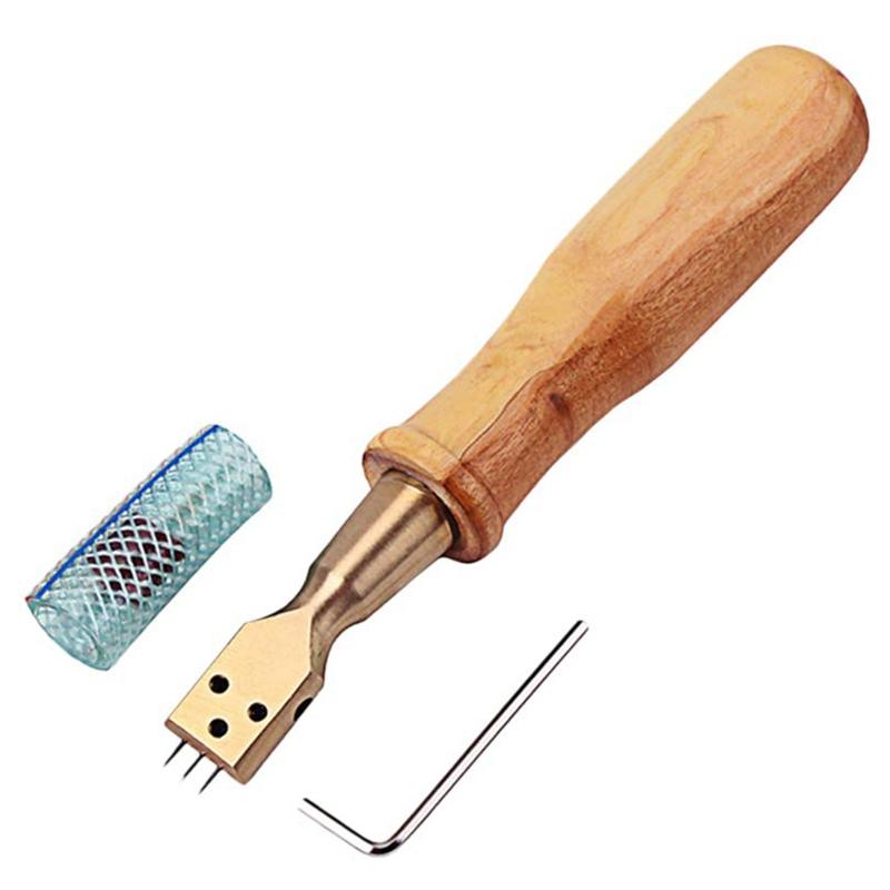 Piano Tuner Tool Bent Head Piano Hammer 3 Needle Voicing Tool with Hardwood Handle and Wrench and Pipe