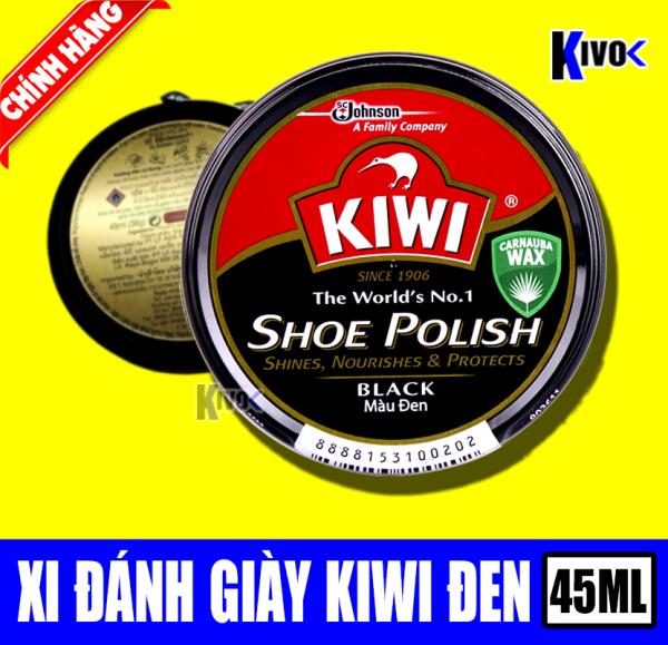 Xi Đánh Bóng Giày Đen Kiwi - Si Đánh Giày Màu Đen - Sáp Đánh Bóng Giày Da - Xi Đen 45ML - Kivo giá rẻ