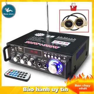 [TẶNG PHẦN QUÀ TRỊ GIÁ 1xx] Amply karaoke Bluetooth, Amly Karaoke gia đình giá rẻ đó là Amly Mini Bluetooth BT-298A Công Suất 2 Kênh 600W - Tự Động Lọc Nhiễu và Tạp Âm , Âm Thanh Mượt Mà. Bảo Hành Uy Tín Bởi Nasa Store thumbnail
