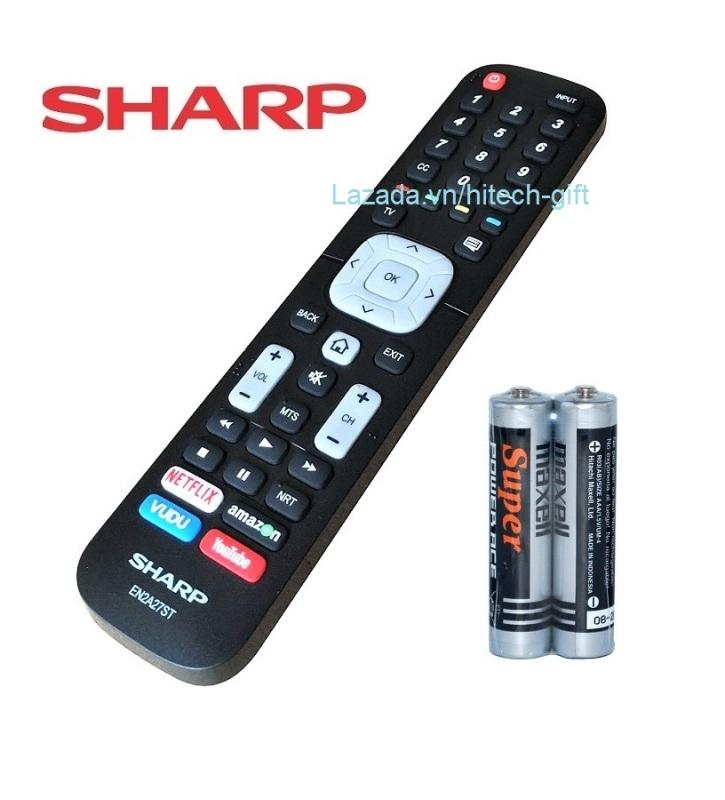 Bảng giá Remote Điều Khiển Smart TV, Internet TV, TV Thông Minh SHARP EN2A27ST (Kèm Pin AAA Maxell)