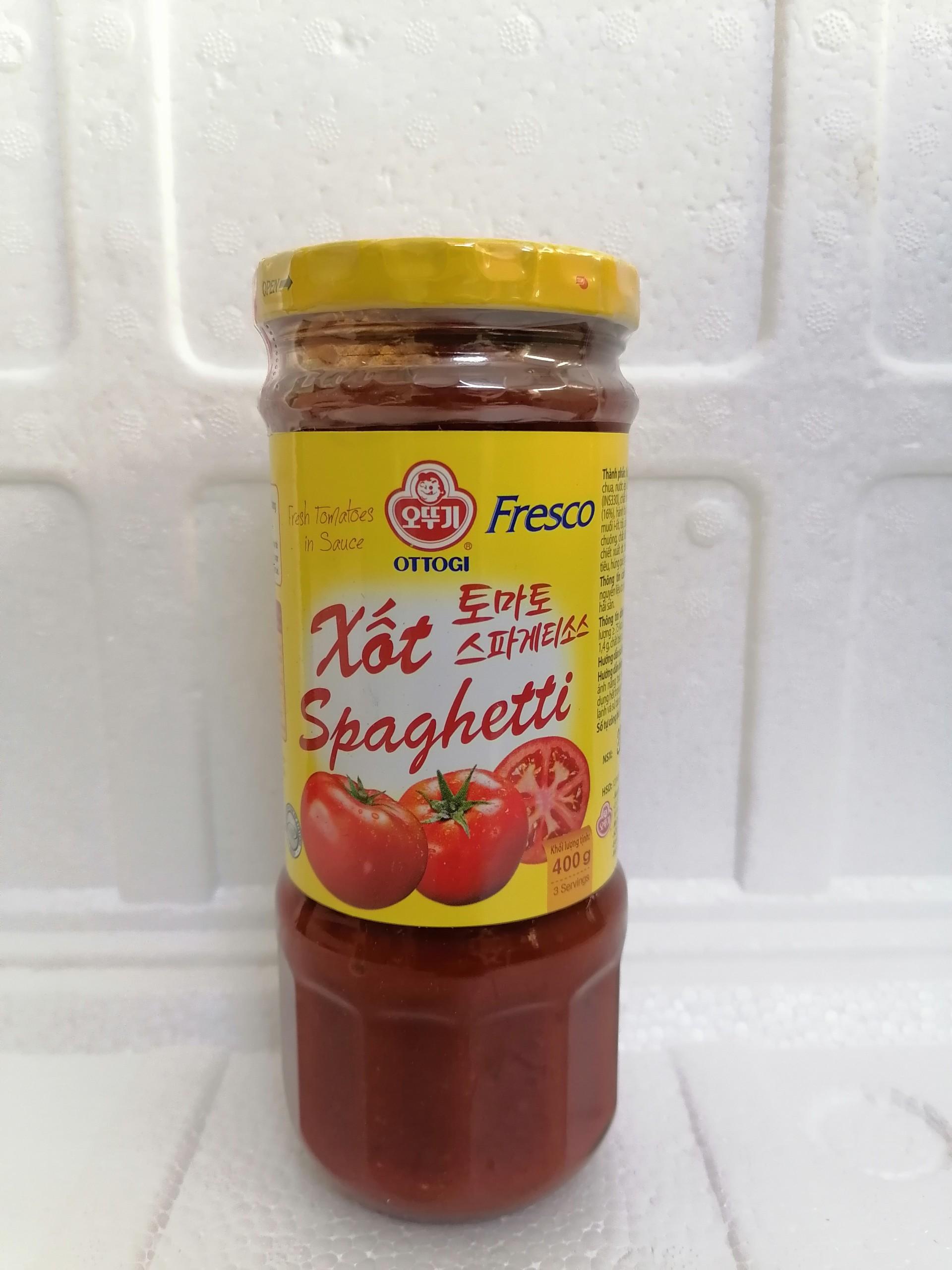 [400g] Xốt mì Ý cà chua [VN] OTTOGI Fresco Tomato Spaghetti Sauce