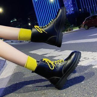 [XA ] Giày boot nữ dáng Dr cao cổ nhiều màu cá tính bao chất thumbnail