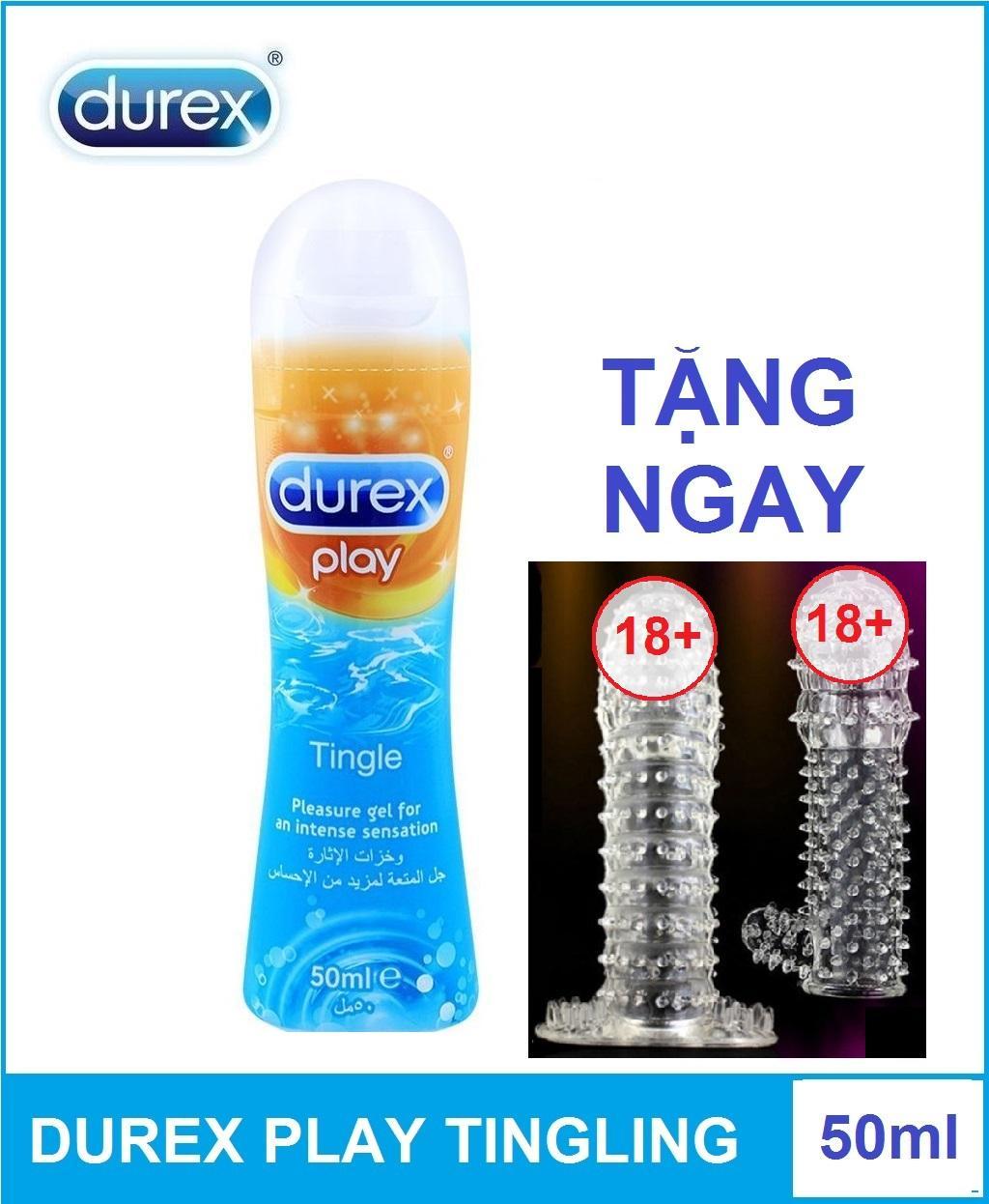 Combo 1 chai Gel bôi trơn Durex Play Tingling 50ml tặng 1 bcs đôn dùng nhiều lần