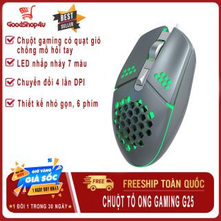 Chuột Gaming có dây ZeroDate G25, chuột tổ ong siêu nhẹ, tích hợp quạt làm mát, 6 nút, 2000 DPI dùng cho máy tính, PC, laptop-Goodshop4u thumbnail