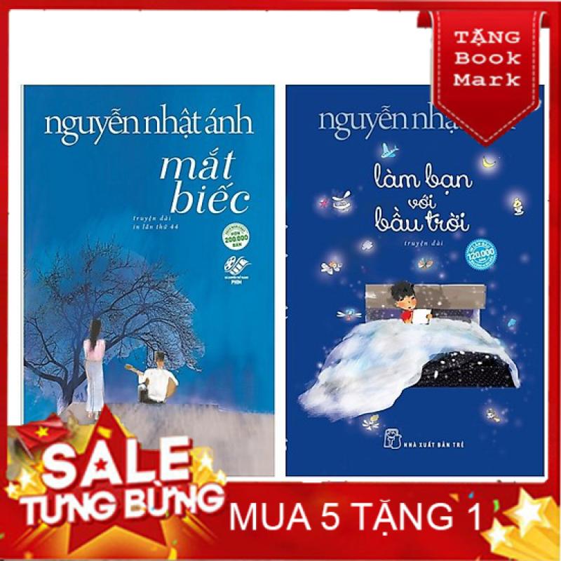 SÁCH HAY - Combo 2 Cuốn Sách Của Nguyễn Nhật Ánh: Mắt Biếc + Làm Bạn Với Bầu Trời - Tặng Kèm Bookmark