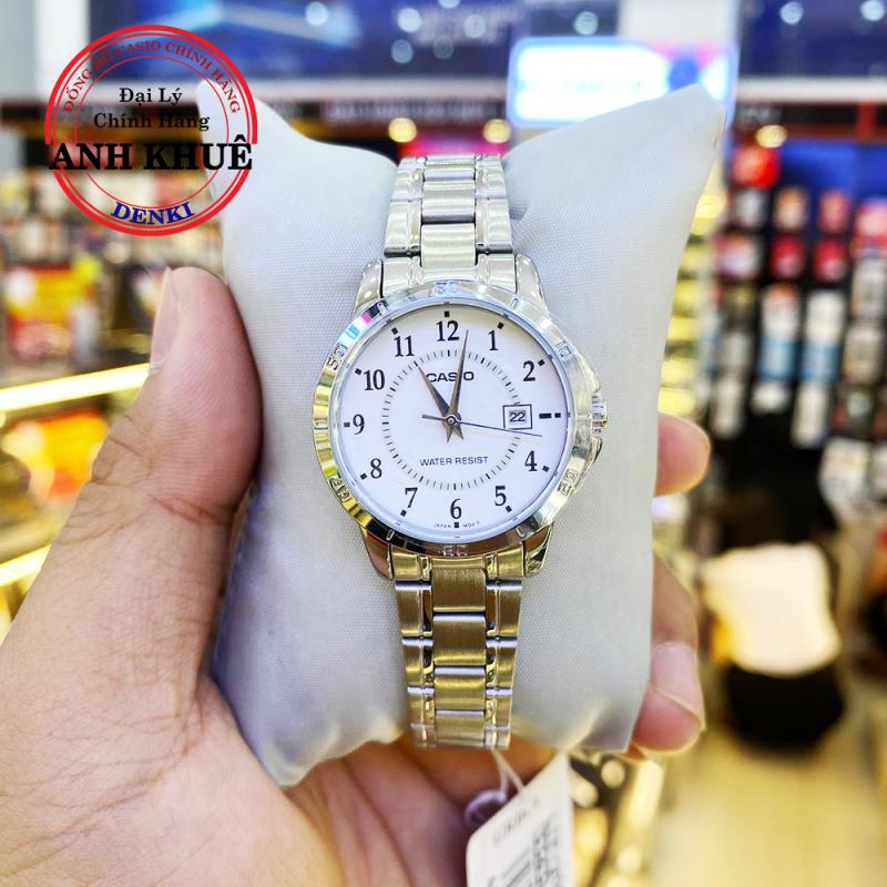 Đồng hồ nữ dây kim loại Casio Standard Anh Khuê LTP-V004D-7BUDF dây thép không gỉ