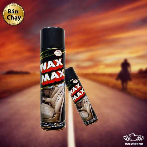 Bình Xịt Đánh Bóng Và Làm Sạch Wax Max, Làm Sạch Nội Thất Ô tô, Chai Vệ Sinh Đồ Da.....