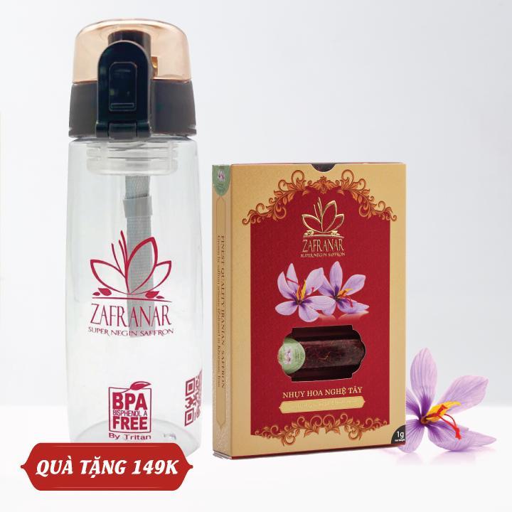 QUÀ BIẾU - Nhụy Hoa Nghệ Tây Zafranar Saffron Super Negin 1gr- Tặng 1 Bình Nước Cao Cấp Trị Giá 149k Có Giá Siêu Tốt