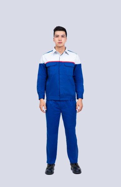 KHUYẾN MÃI NEW - Bô quần áo bảo vệ kaki liên doanh thấm hút mồ hồi DN04 - hình thật