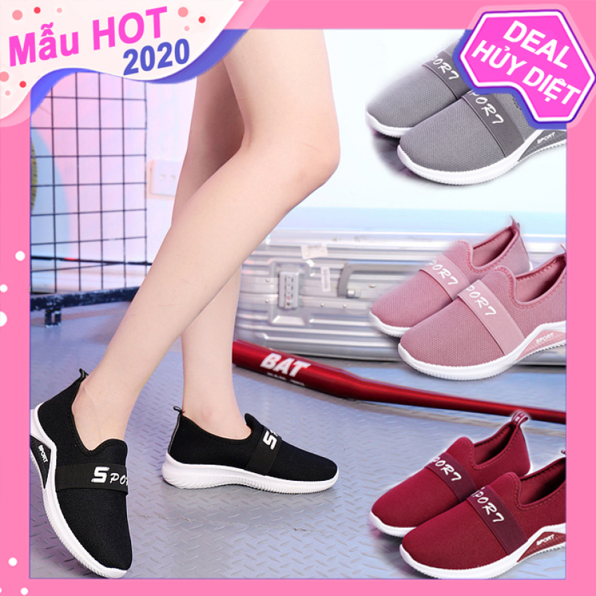 Giày Lười Nữ 3Fashion Dáng Thể Thao Vải Cao Cấp Nhẹ Êm - 3212 giá rẻ