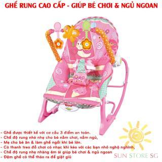 Noi Dien Em Be Ghế rung Cao Cấp, Rung nhè nhẹ cho bé nằm chơi, nằm ngủ, mẹ cho bé ăn & làm ghế ngồi khi bé lớn Bảo hành 1 đổi 1 trên hệ thống SUN Toàn Quốc - Mã BH 268 thumbnail