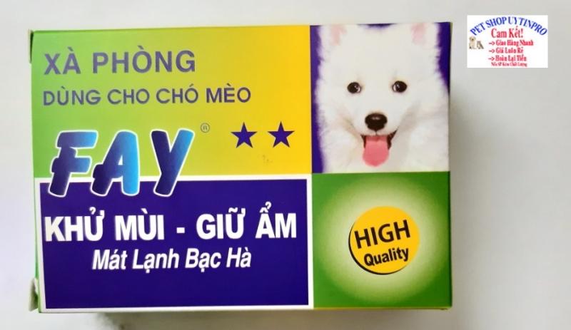 XÀ PHÒNG TẮM CHO THÚ CƯNG CHÓ MÈO Fay 2 Sao Khử mùi Giữ ẩm Mát lạnh bạc hà Sản xuất tại Việt Nam