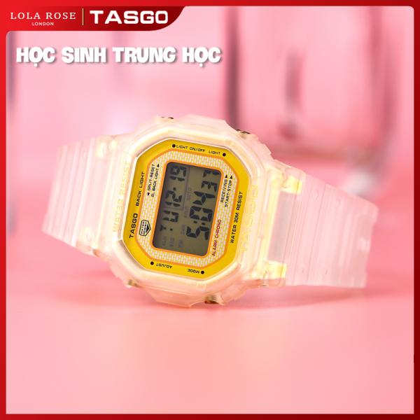 Đồng hồ điện tử nữ, đồng hồ thể thao TASGO xem ngày và giờ , có bốn màu sắc lựa chọn, mặt kính sapphire chống trày và dây đeo nhựa cao cấp, bào hành 1 năm T110 bán chạy