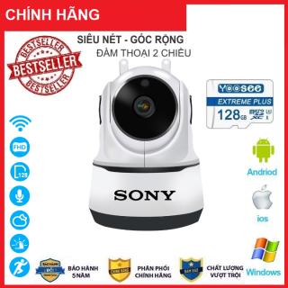 [Combo Camera thẻ 128GB BH 5 NĂM ] Camera Wifi Sony 3.0Trong Nhà Sony 2 Râu 3.0 Mpx Full Hd 1080P, Hỗ Trợ 12 Đèn Hồng Ngoại - An Phat Company (MÃ KÈM THẺ GIÁ 415K VÀ MÃ KHÔNG THẺ 345K) thumbnail