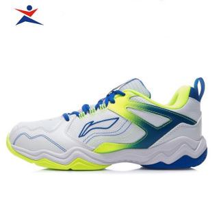 Giày cầu lông nam chính hãng lining AYTR013-1 màu trắng phối xanh siêu bền thumbnail