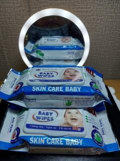 Combo 6 gói Khăn ướt Baby Wipes 80gr, Hàng chuẩn, Rẻ Vô Đối thumbnail