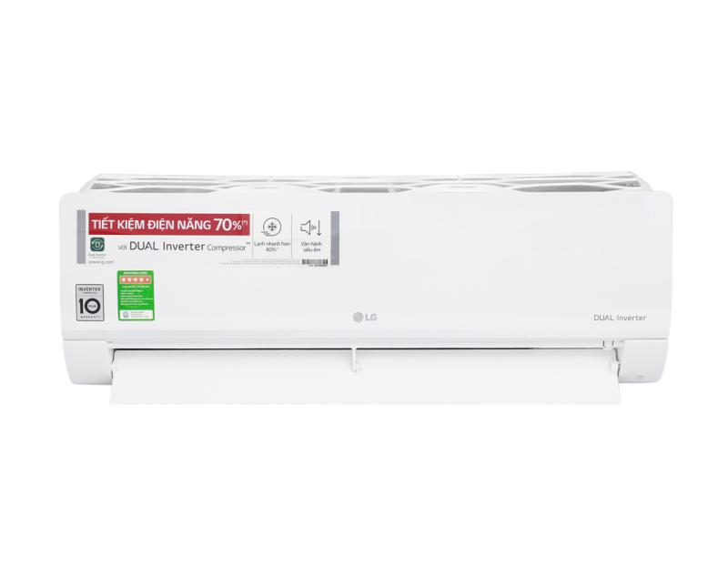 Máy lạnh LG Inverter 1.5 HP V13ENS Tấm vi lọc bụi, Có tự điều chỉnh nhiệt độ (chế độ ngủ đêm) Thổi gió dễ chịu (cho trẻ em, người già) Hẹn giờ bật tắt máy Làm lạnh nhanh tức thì Tự khởi động lại khi có điện