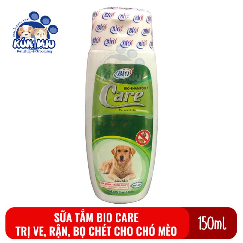 Sữa tắm diệt ve,rận, bọ chét, ký sinh trùng trên chó mèo Bio Care 150ml