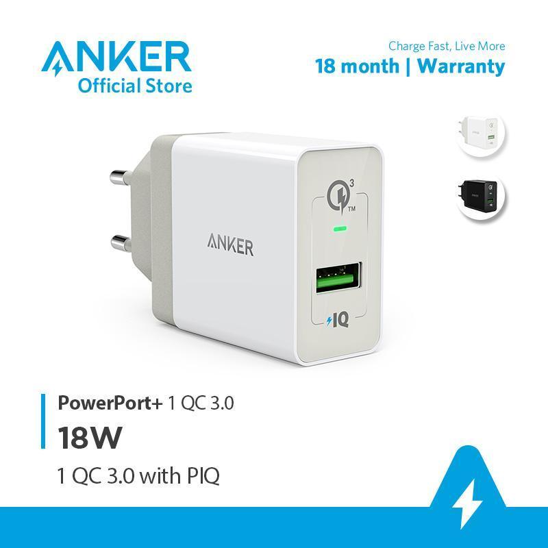 Sạc ANKER PowerPort+ 1 cổng Quick Charge 3.0 có PowerIQ 18W - A2013