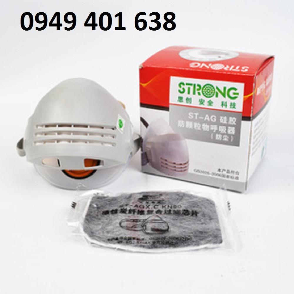 Trọn bộ mặt nạ phòng độc khói bụi cao cấp chất liệu-SILICON