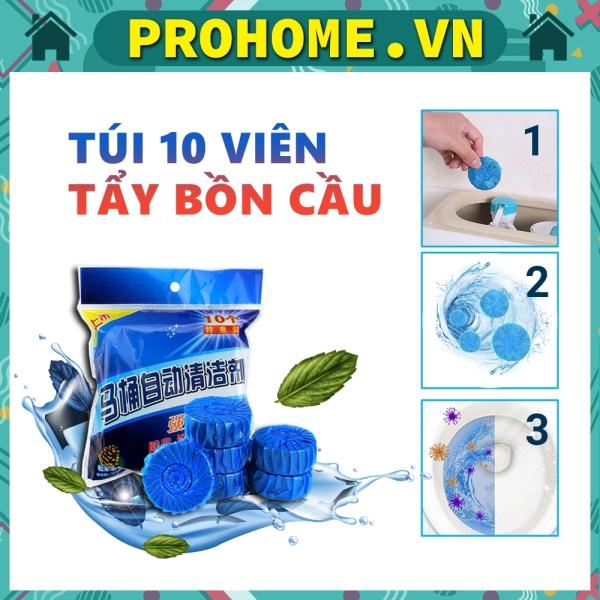 Bộ 10 Viên Khử Mùi Tẩy Bồn Cầu Diệt Khuẩn