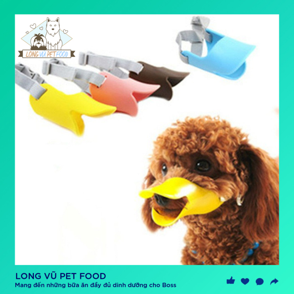 Rọ mõm mỏ vịt nhựa mềm cho chó (size m cho các bé 3-5kg) - Long Vũ Pet Food