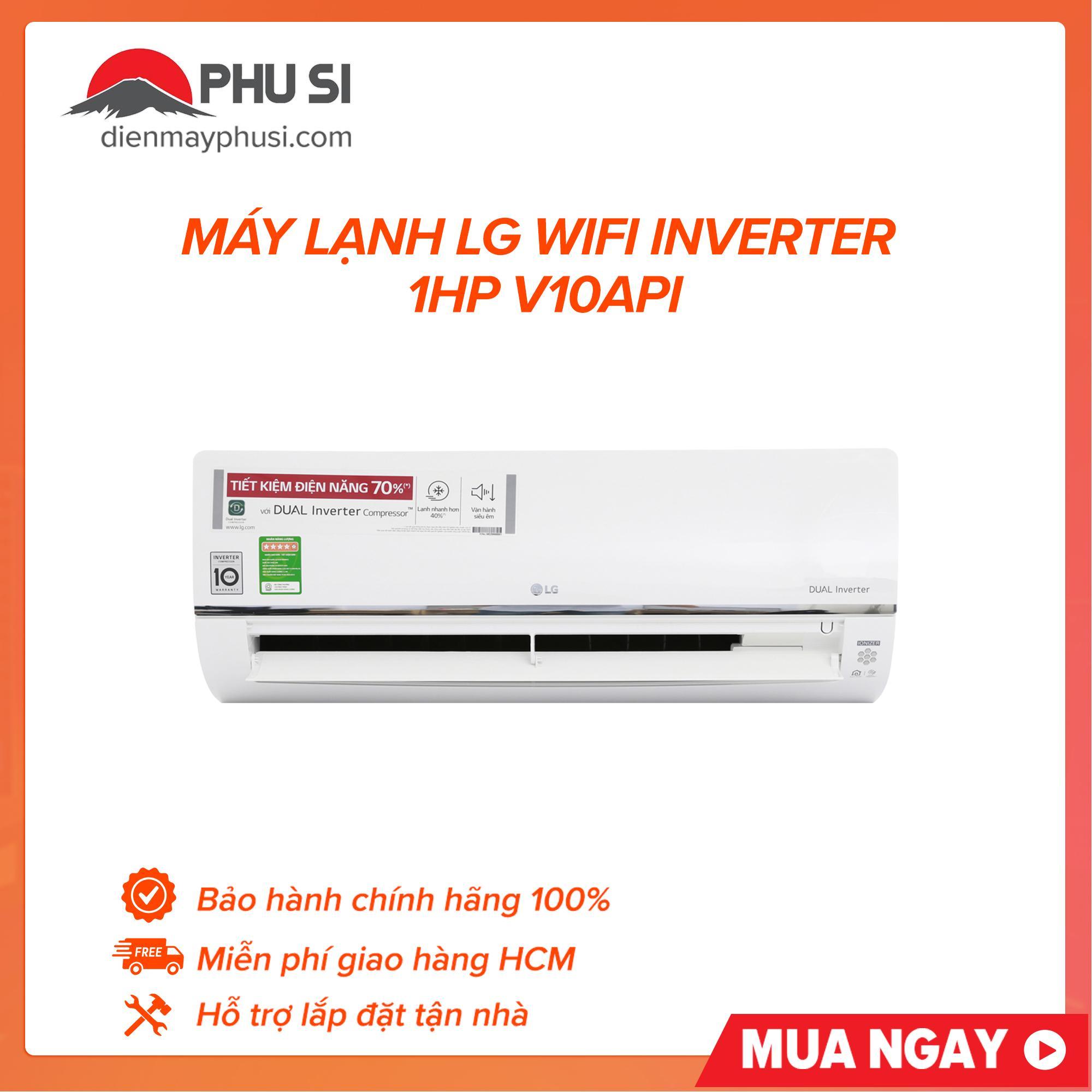 Bảng giá Máy lạnh LG wifi inverter 1HP V10API