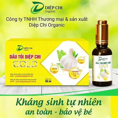 Tinh dầu tỏi Diệp Chi Gold 30ml - Kháng sinh tự nhiên bảo vệ cả gia đình nhập khẩu