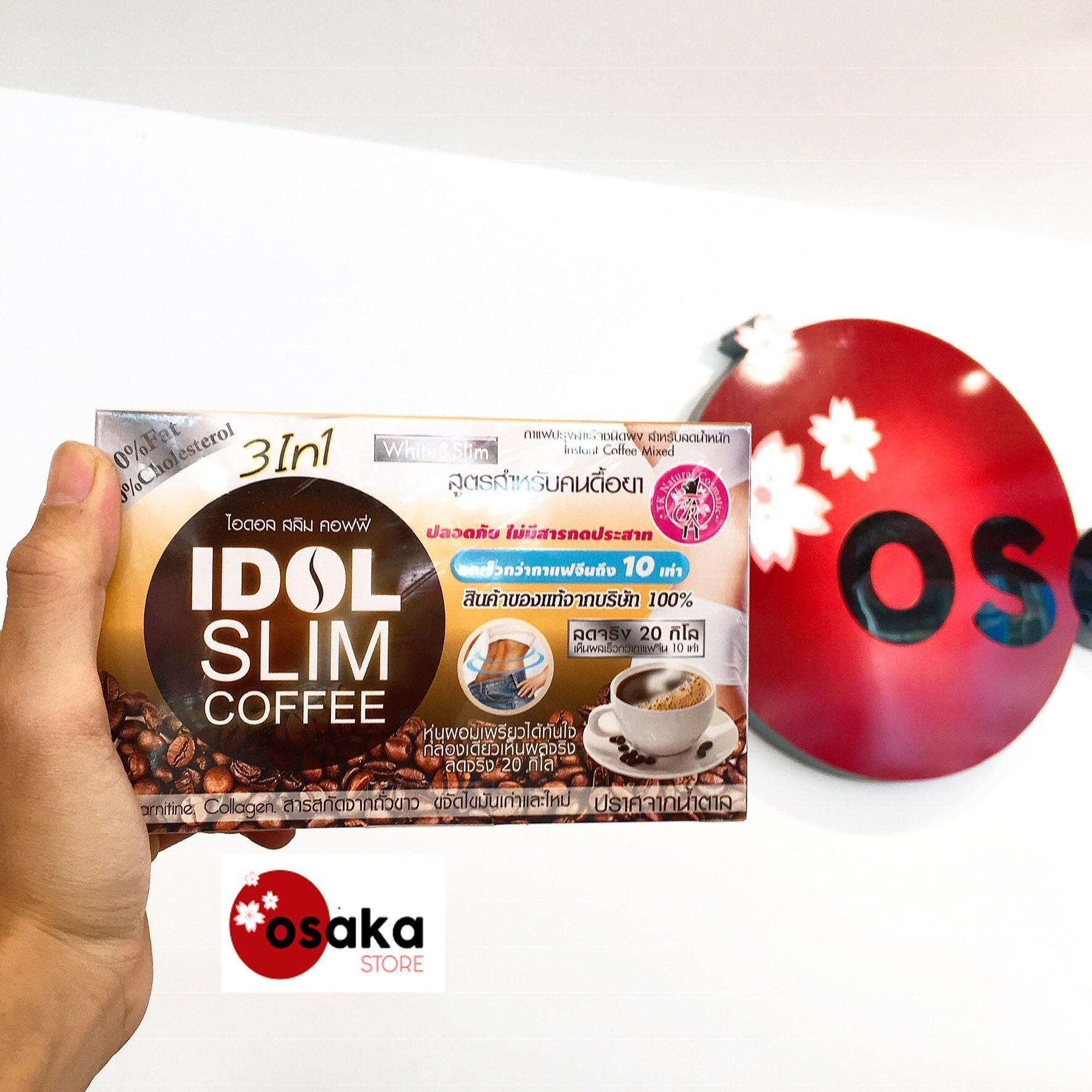 [ MẪU MỚI 2019 ] Cafe giảm cân Idol Slim Coffee 15g x 10 gói - Thái Lan CPG02 chính hãng