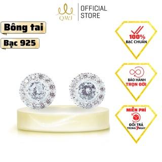 QMJ Khuyên tai bạc Hằng Nga nạm đá sắc sảo bạc 925 chuẩn cao cấp, dành cho bạn nữ thích bộ trang sức cổ trang và khuyên tai nụ one love và phong cách phụ kiện thời trang, thiết kế đơn giản, duyên dáng, công sở - QKL0692 thumbnail