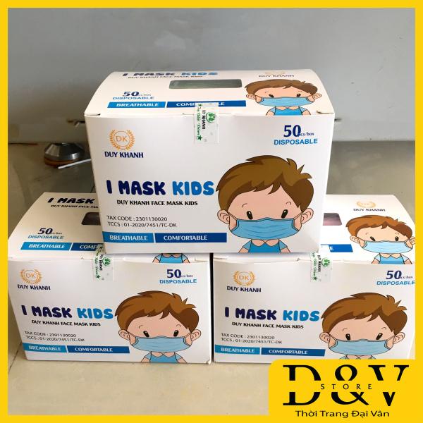 Khẩu Trang Y Tế Trẻ Em Hộp 50 Chiếc Kháng Khuẩn,Bảo Huy và Duy Khánh Khẩu trang em bé, khẩu trang trẻ em (5 màu 1 hộp)