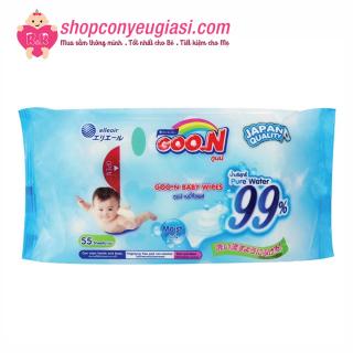 Khăn Ướt Goon Thái Không Mùi - 55 Tờ Gói (Xanh) thumbnail