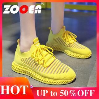 ZOCEN Giày nữ bay dệt thể thao thoáng khí Giày chạy bộ cho nữ Giày thể thao cho nữ thumbnail