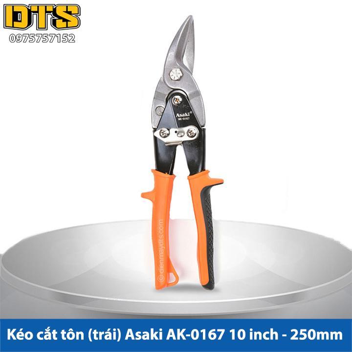 Kéo cắt tôn (tole) mũi cong trái Asaki 10inch/250mm