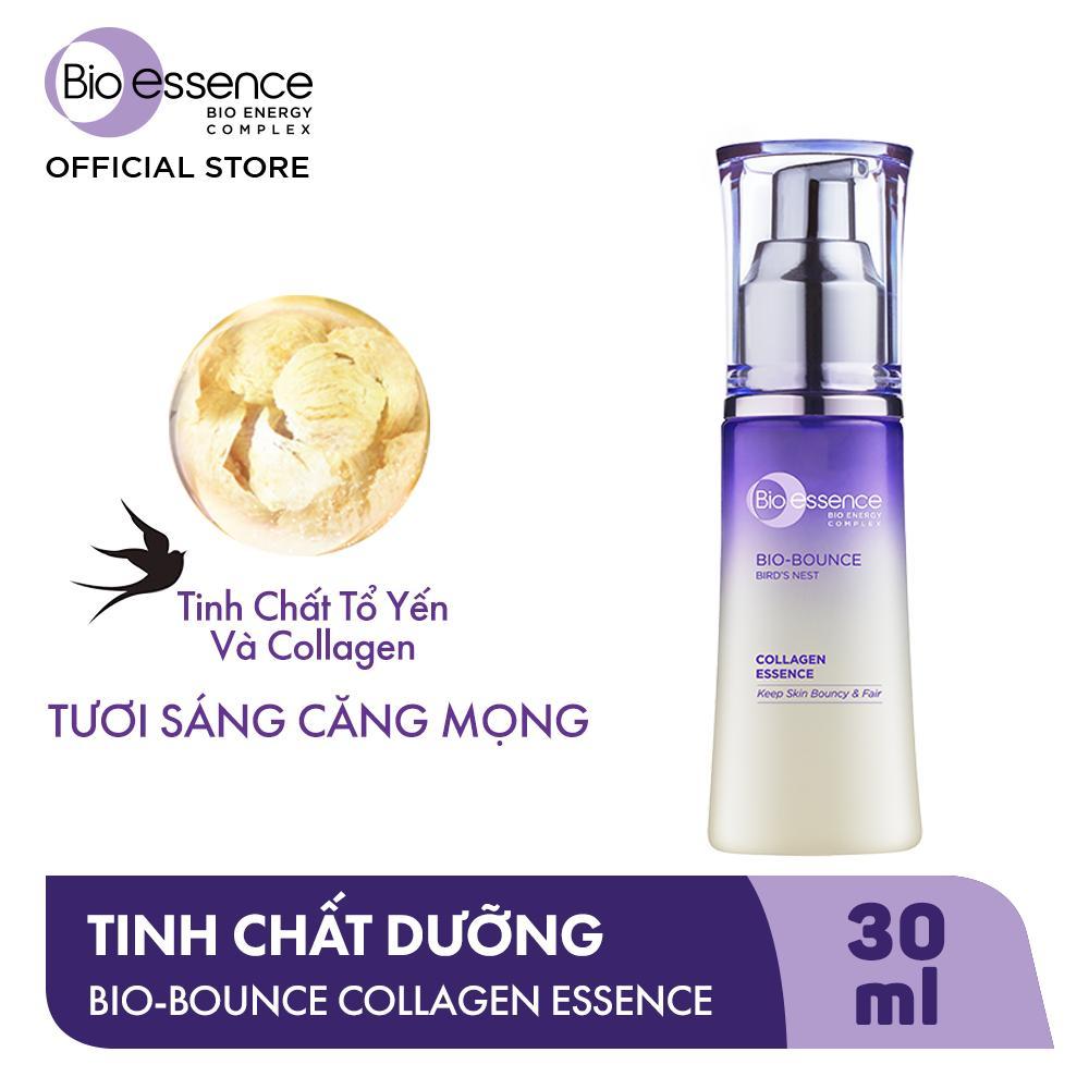 Kết quả hình ảnh cho Tinh Chất Dưỡng Da Trắng Sáng & Căng Mọng Bio-Essence Chiết Xuất Collagen - Tổ Yến 30ml