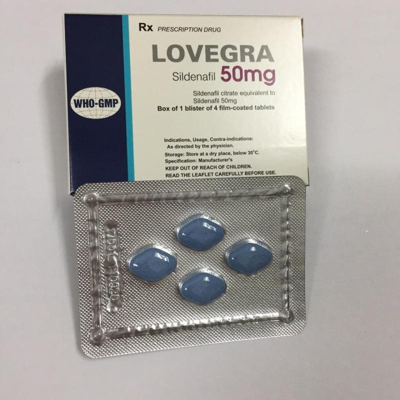 Viên uống điều trị rối loạn cương dương LOVE_GRA 50mg hộp 4 viên tốt nhất