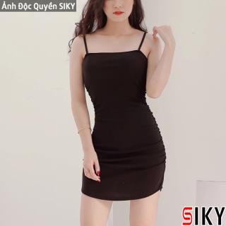 Đầm body 2 dây eo nhúm - Siky thumbnail