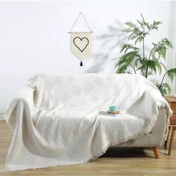 Thảm Sofa, Thảm Trải Sàn, Thảm Thổ Cẩm, Thảm Vintage, Khăn phủ Sopha, Thảm 2 Mặt Ấn Độ 230cm x 180cm