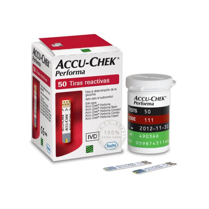 Que thử đường huyết Accu-chek Performa - Hộp 50 que