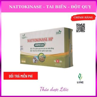 Nattokinase HP- viên uống hỗ trợ điều trị tai biến mạch máu nào, nhồi máu cơ tim, tan cục máu đông, hoa mất, chóng mặt, mất ngủ, thần kinh suy nhược, nguồn gốc tự nhiên, an toàn đậu tương lên men- litic HNTK45 thumbnail